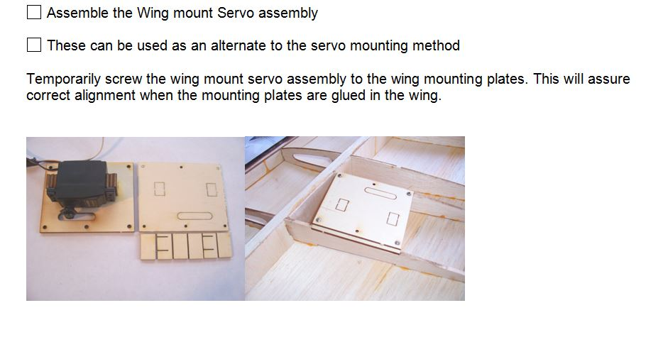 LDS Wing Servo Mount